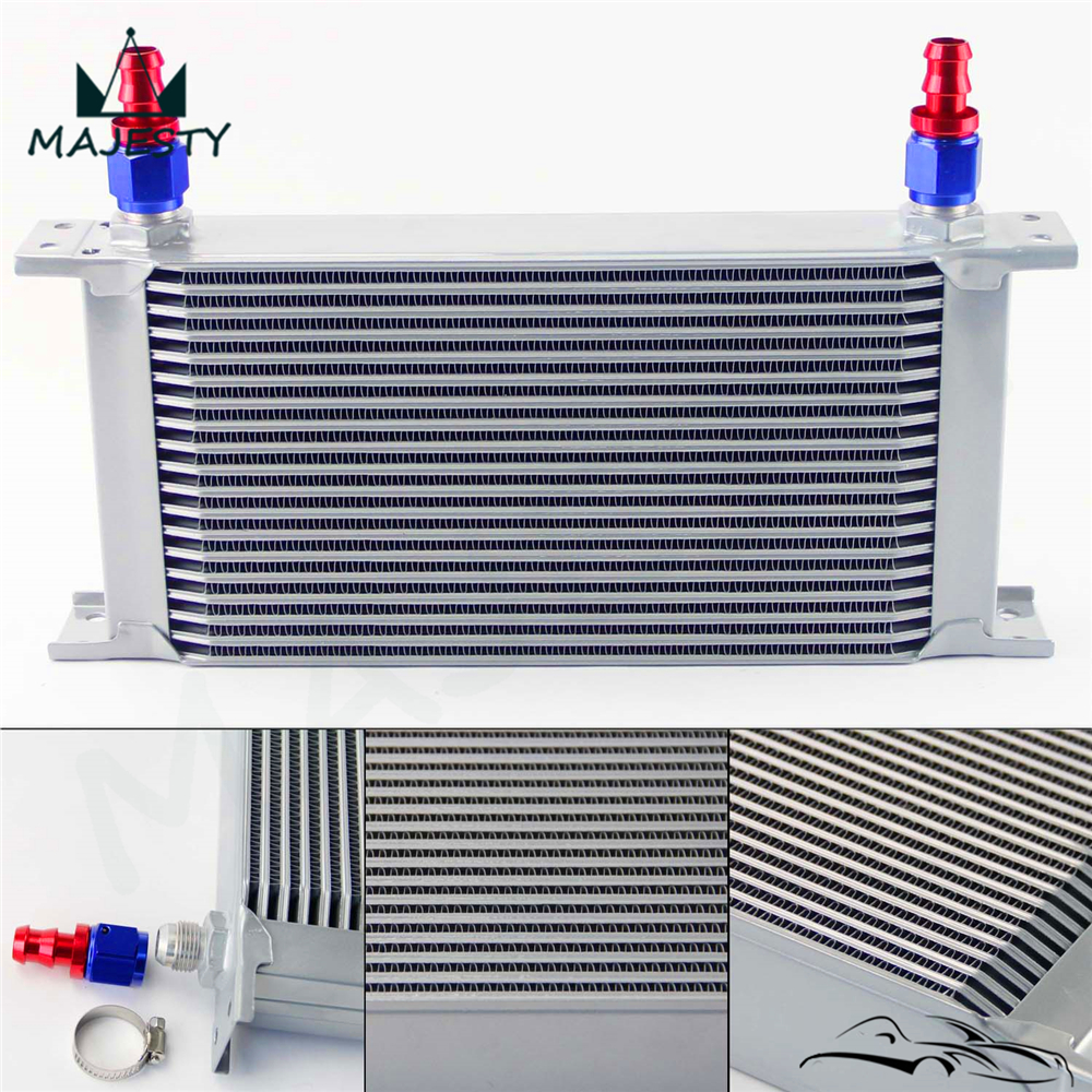 19 Row Aluminum 8 AN8 Oil Cooler for Universal Hose end Fittings Clamps