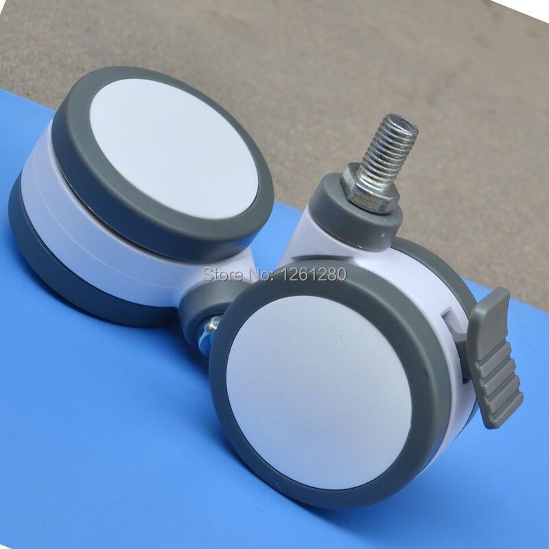 40/mm pl/ástico Placa superior giratorio de metal doble ruedas muebles aparato y equipo peque/ño Mini ruedas ruedas Set