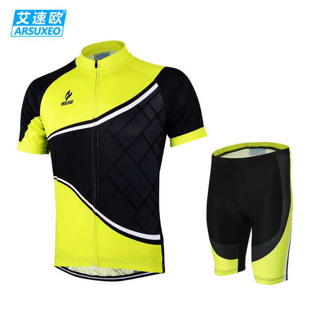 1aea425d2 ARSUXEO Bike Bicycle Cycling Cycle Clothing Suits Outdoor Wear Sportswear  Men Short Sleeve Jersey + 3D