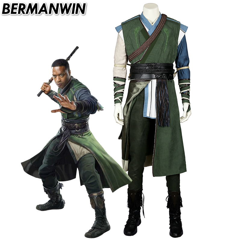 BERMANWIN High Quality doctor strange Baron Mordo cosplay costume Halloween costumes for adult men Mordo doctor strange costume