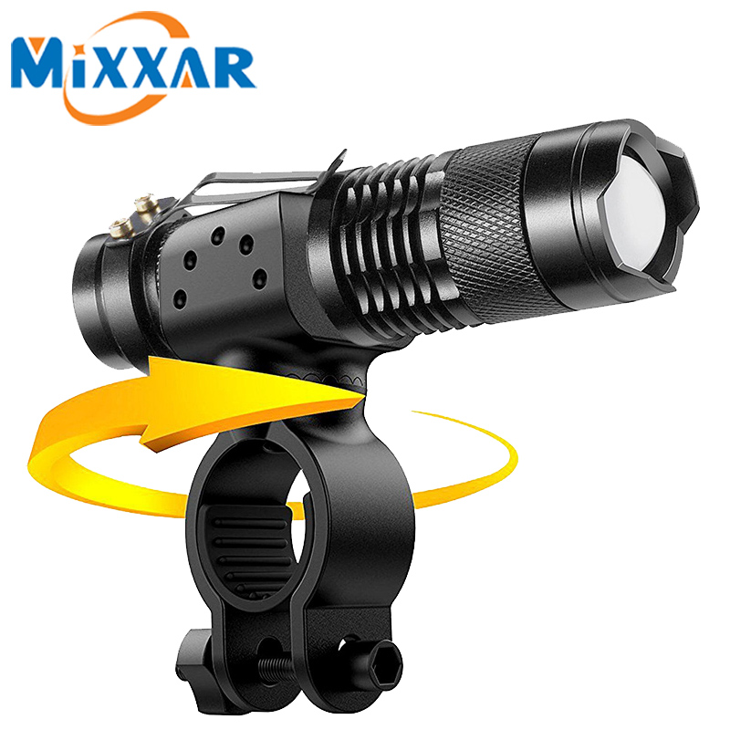 ZK30 LED Bicycle Light 3500 Lumens Flashlight 3 Modes  Q5 LED Cycling Front Light Bike lights Lamp Torch Waterproof Zoomable powerful led flashlight bicycle light 2000 lumens 3 mode cree q5 led bike light front torch waterproof xp 6 torch holder zk93