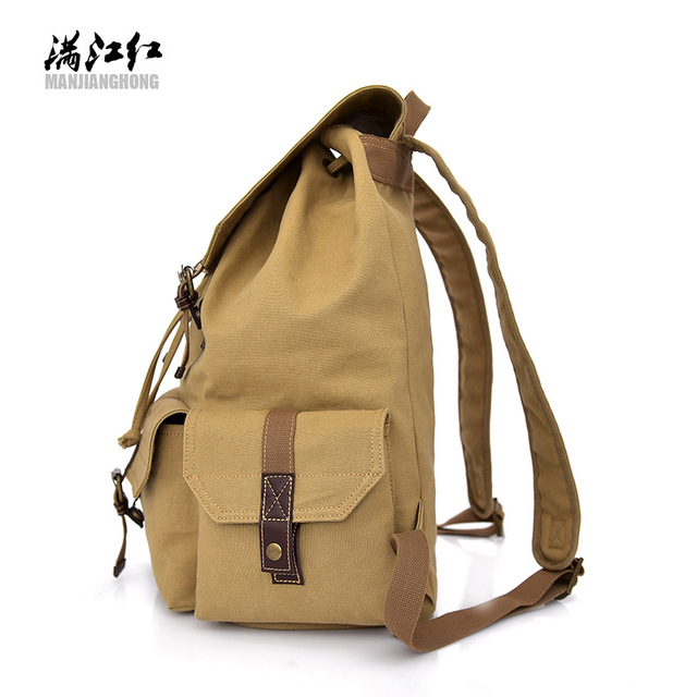 Direct sale canvas by manufacturers the trend of leisure men's bags outdoor backpacks students' leisure bags instead of hai