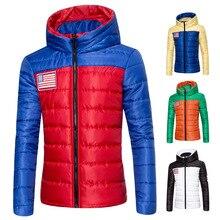 Новая зима 2016 с капюшоном мужчин досуг хлопка-мягкие одежды подбора цвета куртка хлопка-ватник М-XXXL