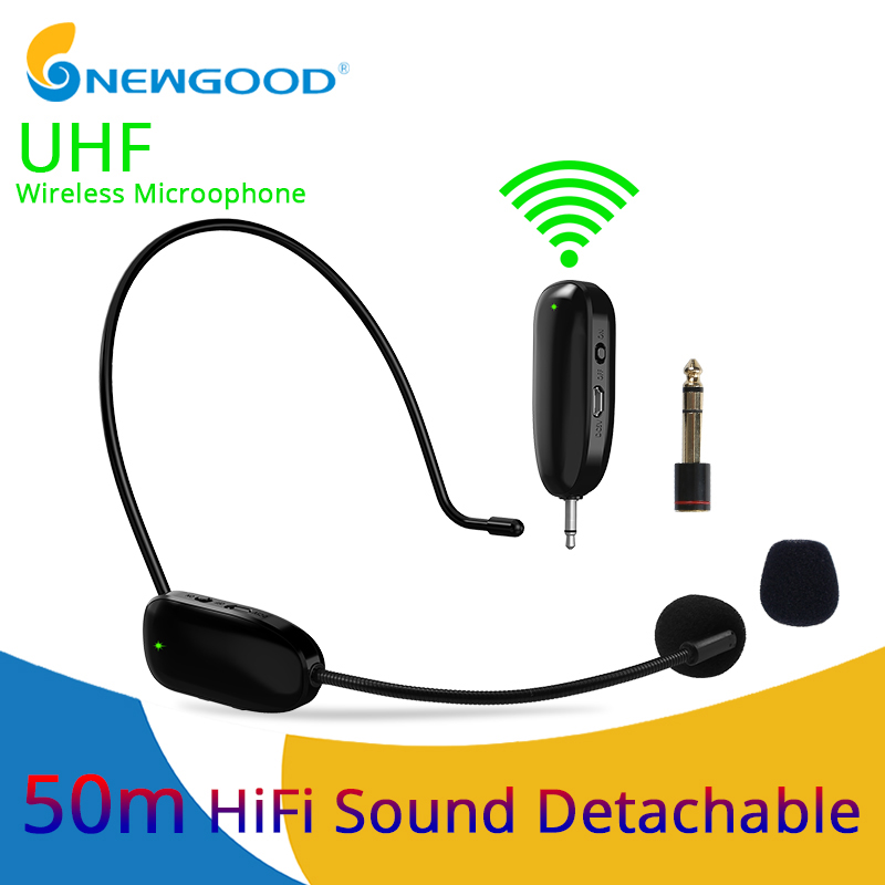 Headworn and Handheld Mic with Rechargeable Transimitter/&Receiver Meeting ARCHEER UHF Wireless Headset Microphone Perfect for Teaching Conference etc. Yoga Training Presentation
