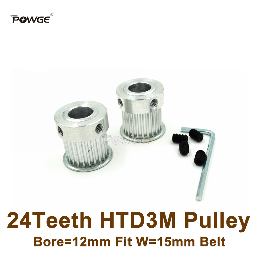22-3M-15 15mm Wide Pilot Bore 3M 3mm Pitch HTD Timing Belt Pulley CNC ROBOTICS