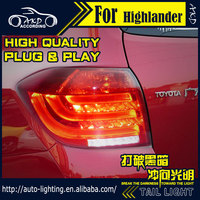 AKD Car Styling Tail Lamp For Toyota Highlander Tail Lights 2012 2013 LED Tail Light Signal