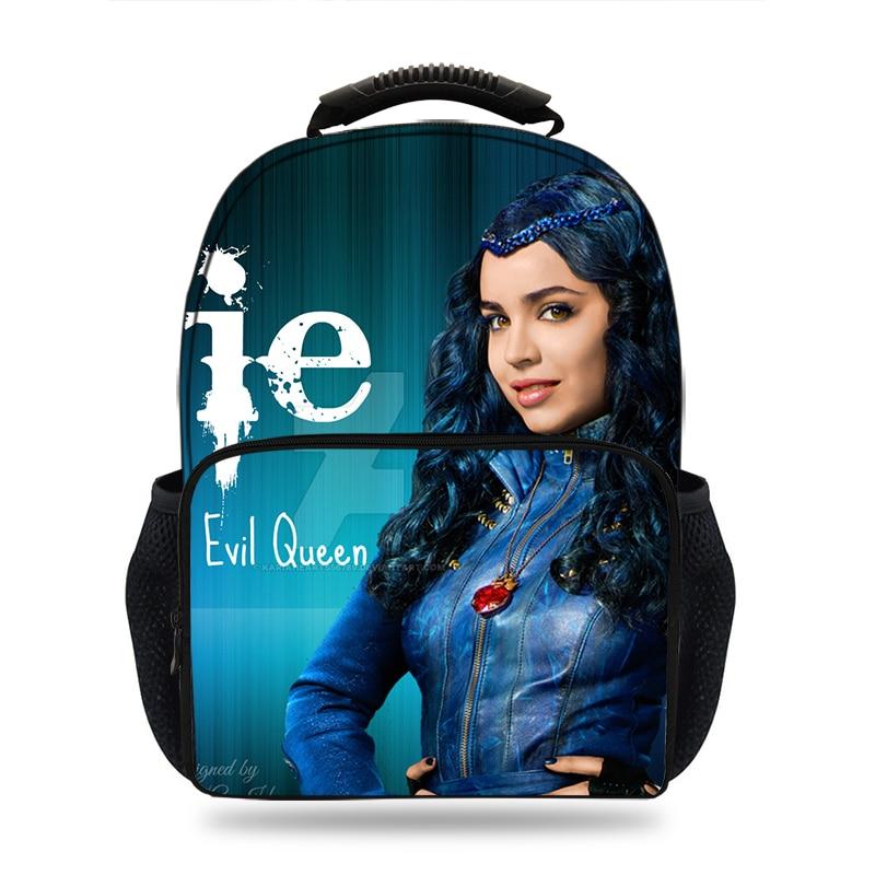 15inch Movie Descendents 2 Characters  Backpack Women&kids School Bags For Boys  Backpack Teenage Girls Travel Backpack Mochila