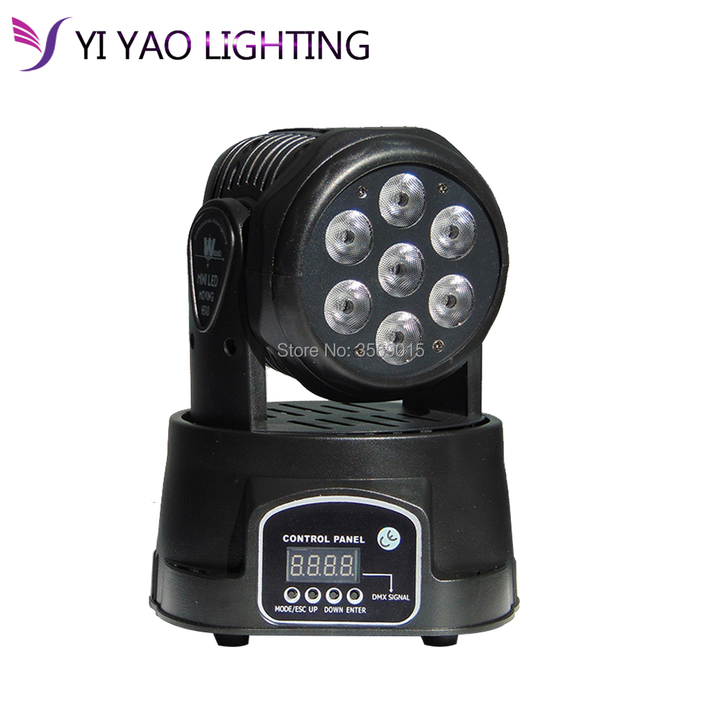 Orderly Rgbw Moving Head 7x12w Led Dmx Wash Dj Stage Light Disco Party Moving Heads Refreshing And Enriching The Saliva Lights & Lighting