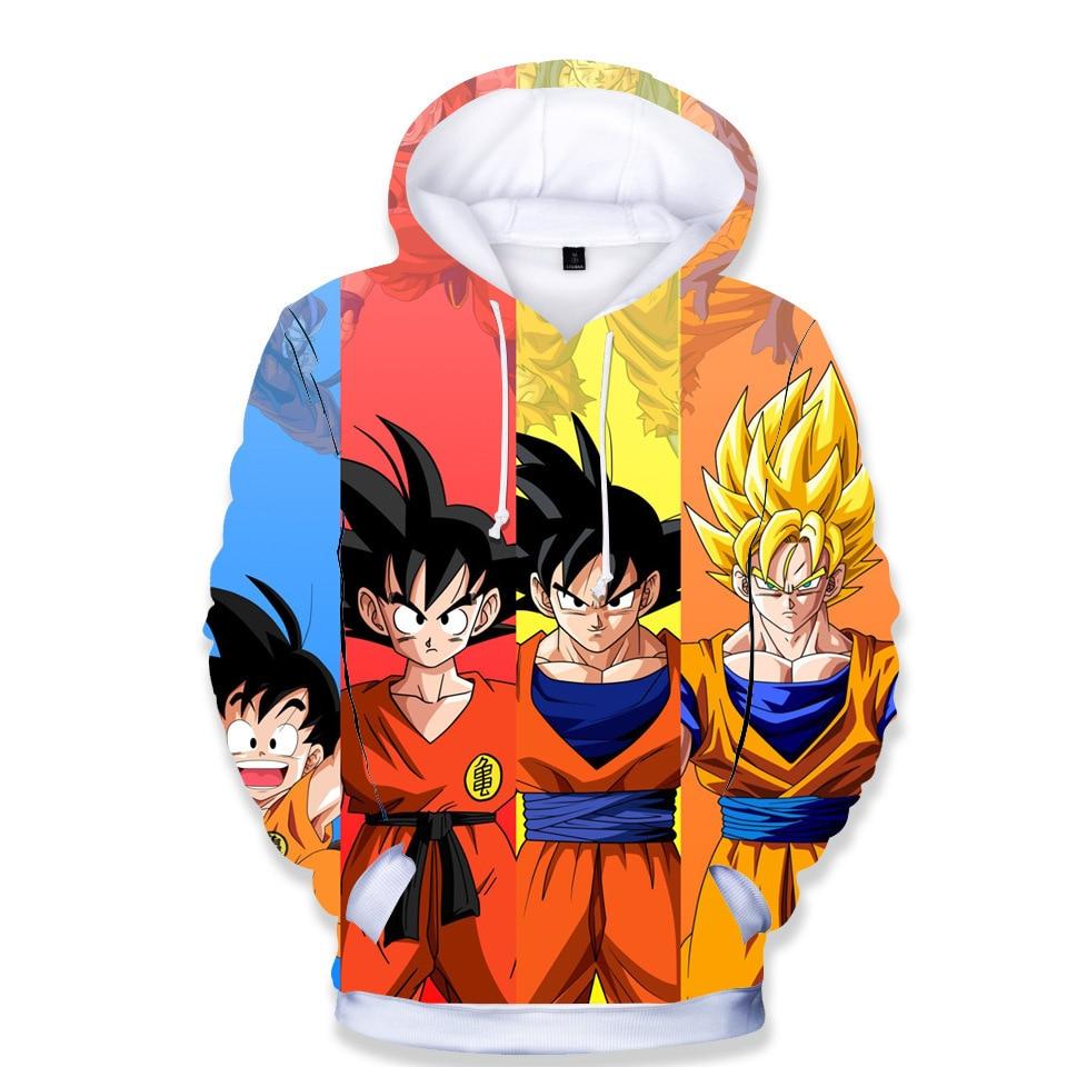 Hoodies Sweatshirts Pullover Dragon Ball Boys Kids Girls Child Casual Goku Streetwear