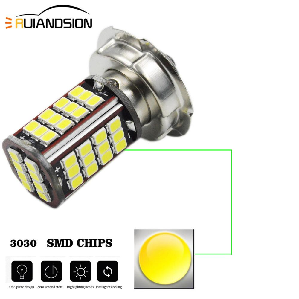 1pcs Motorbike Motorcycle P26S 3030 56smd LED Headlight Head Scooter Moto Fog Lamp For Scooter Moped White 2.7W LED 6V 12V 960lm