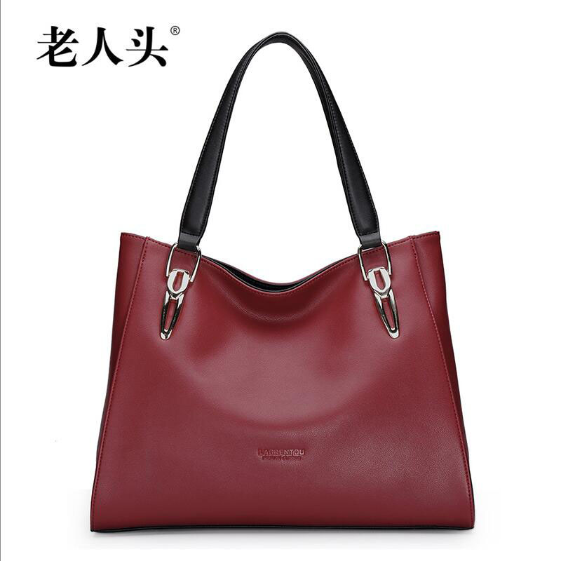 все цены на Famous brand top quality dermis women bag 2015 new winter shoulder Messenger Bag Fashion hit color handbag Leisure wild Tote