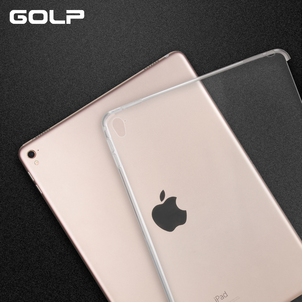 for ipad pro 9.7 case, GOLP Soft TPU case for iPad Pro 9.7″ ,Transparent tablet Case for ipad 9.7