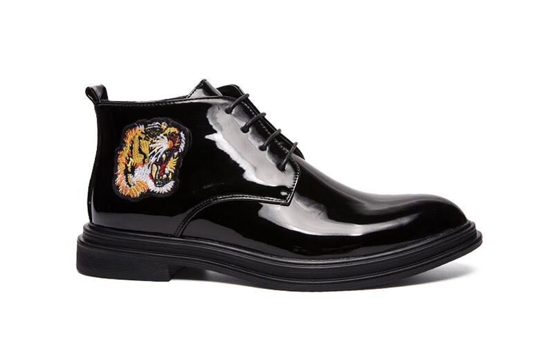Appartements Date Robe Bal Tigre Pointu Luxe Mariage Broderie De 1 Chaussures Gentleman Designer Hommes Mâle 1rxAPTryq8