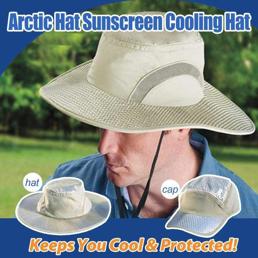 Arctic Hat Heatstroke Protection Cooling Cap For Men And Women Summer Casual Sunscreen Cooling Cap Support Dropshipping