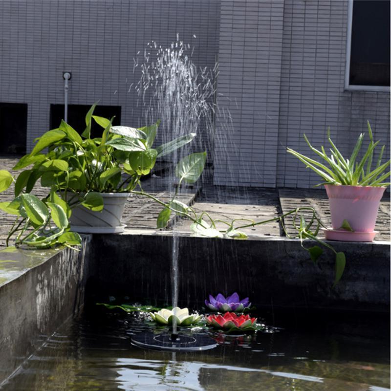 Image 3 - Солнечный фонтан Солнечный фонтан воды садовый бассейн, пруд солнечная панель на открытом воздухе фонтан плавающий фонтан садовое украшение-in Фонтанчики и поилки для птиц from Дом и животные