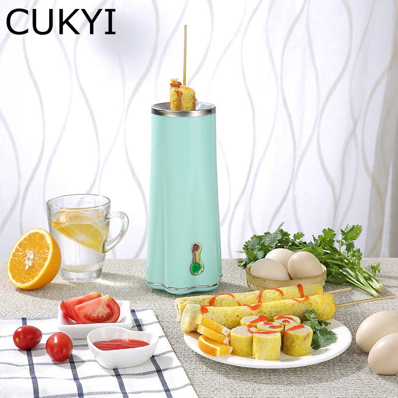 CUKYI Electric Mini Egg Roll Maker Base Removable Non-stick Omelette Breakfast Boiler fast cooking device LED light High quality cukyi automatic roll maker electric egg boiler cup omelette breakfast maker non stick kitchen cooking tool 220v heat separately