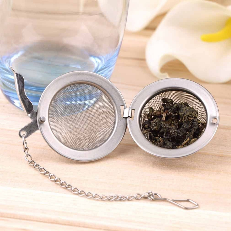 1pc Tea Infuser Ball Stainless Steel Tea leaf Strainers for Brewing Device Herbal Spice Secure Locking