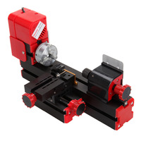 (Shipping From US) Mini Classic Lathe machine 6 in 1 Tools Grinder Saw Driller Metal Wood Miller