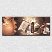 A mother feeding her child the words of God from the Bible modern art painting picture craft print on canvas wall art
