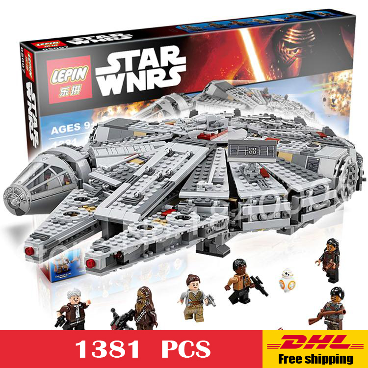 1381pcs Bela 05007 font b New b font Star Wars Millennium Falcon Model Building Kit Blocks