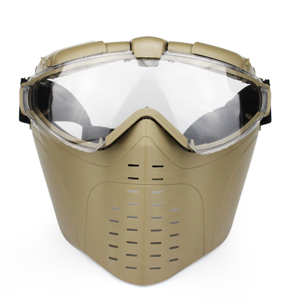 Anti-fog Airsoft Tactical Hunting Paintball Cs War Game Safety Masks Ventilate Full Face Electric Fan Gas Mask With Goggle To Ensure Smooth Transmission Camping & Hiking