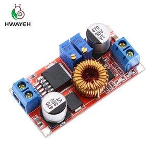 Image 1 - 1Pcs 5A Dc Naar Dc Cc Cv Lithium Batterij Step Down Opladen Board Led Power Converter Lithium Charger Stap down Module Hong