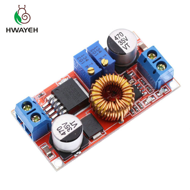 1Pcs 5A Dc Naar Dc Cc Cv Lithium Batterij Step Down Opladen Board Led Power Converter Lithium Charger Stap down Module Hong