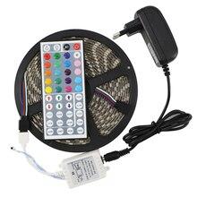 SMD 5050 RGB LED de Silicio Luz de Tira Impermeable 300 Led 5 M Cinta Flexible Kit + Mando a distancia IR DC12V fuente de Alimentación Adaptador