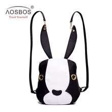 Fashion Women Nylon Backpacks Cute Rabbit Shoulder Bags Solid Zipper Backpack for Teenage Girls Mujer Mochila