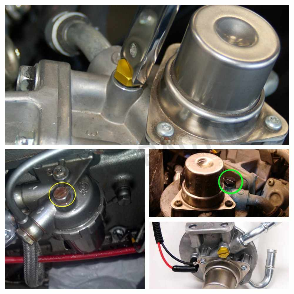 billet air bleeder screw fuel filter housing 2001-2016 for gmc duramax  diesel bleed ln036
