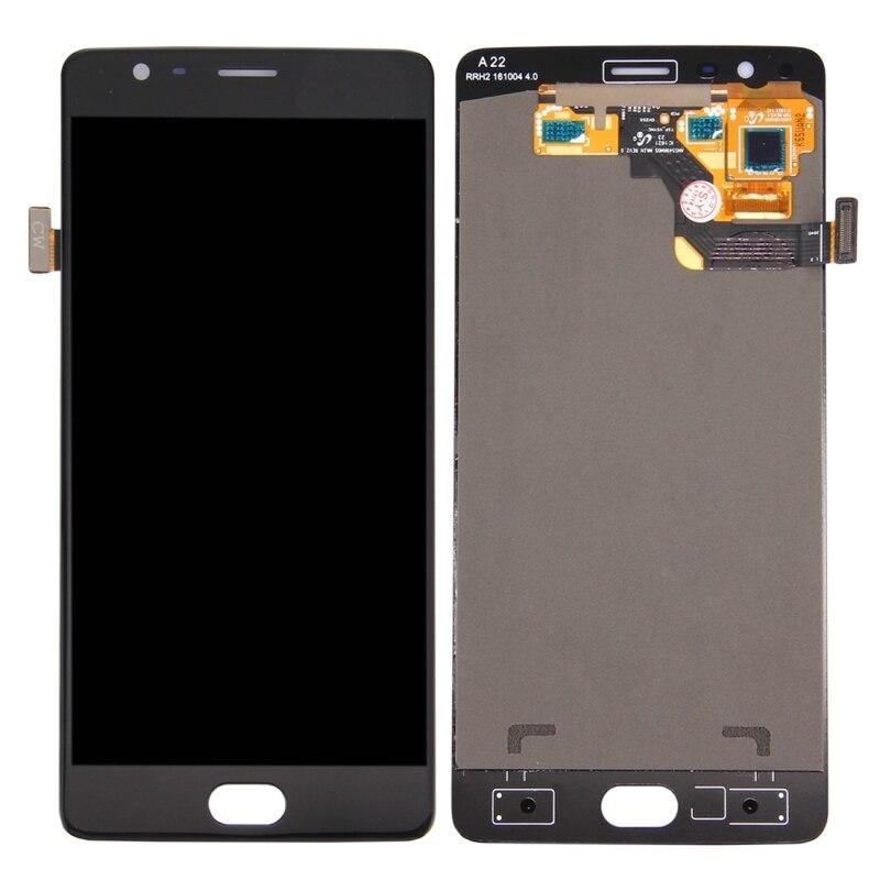 高品質液晶画面とデジタイザフルアセンブリ Lcd 交換用ガラス OnePlus 3 (A3003 バージョン)  グループ上の 携帯電話 & 電気通信 からの 携帯電話タッチパネル の中 1