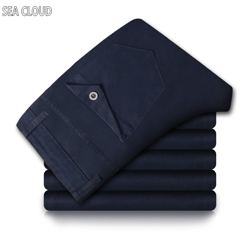 ФОТО HOT!Free Shipping Sea Cloud 4XL 6xl brand pants,Leisure&Casual pants, Newly Style Zipper fly Straight Cotton Men Jeans trousers