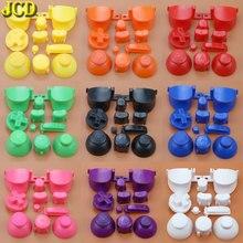 JCD Full Bộ L R Abxy Z Bàn Phím Nút Với 3D Ngón Tay Cái Mũ Cho Gamecube Cho Ngc D Miếng Lót Điện trên Nút Tắt