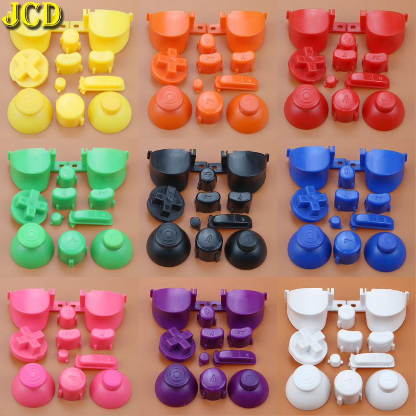JCD Full Set L R ABXY Z Keypads Buttons With 3D Thumbsticks Caps For GameCube For NGC D Pads Power ON OFF Buttons