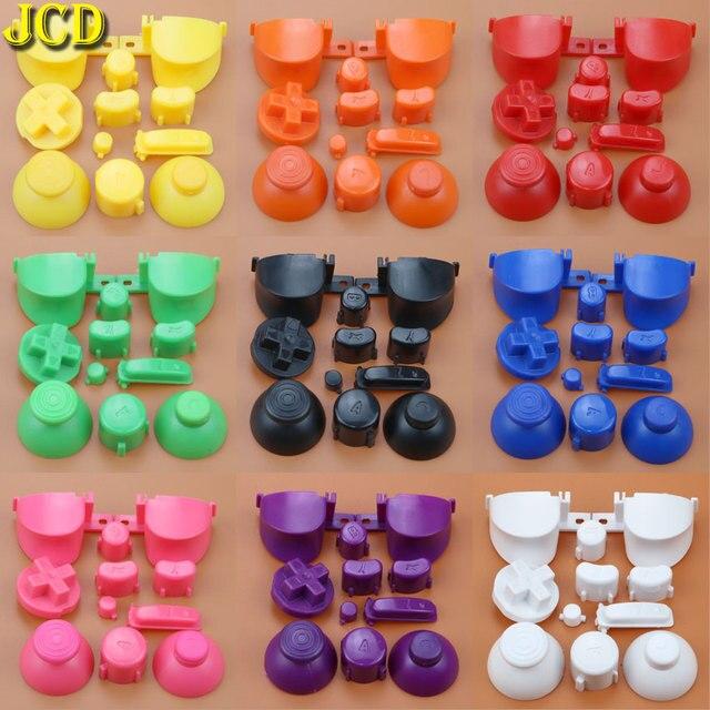 Jcd フルセット l r abxy z キーパッドのボタンと 3D サムスティックキャップキューブ用 ngc d パッド電源 on off ボタン