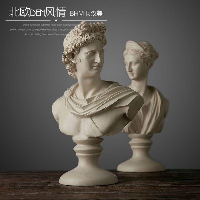 Creative resin abstract David Character avatar figurines vintage Venus statue home decor office crafts room decoration objectsCreative resin abstract David Character avatar figurines vintage Venus statue home decor office crafts room decoration objects