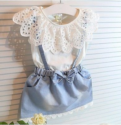 New Fashion Baby Kids Girls cotton Dress Cute Princess Sleeveless Denim Tulle Bowknot High quality Dresses in Dresses from Mother Kids