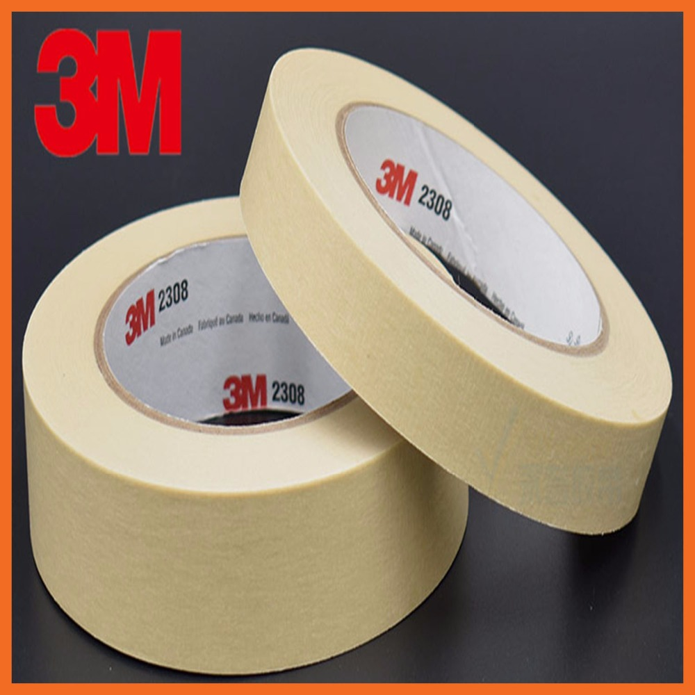 Masking Tape Crepe Paper Decorative Mask Car Spray Shield Adhesive Seal Tape Traceless Automobile spraying mask 70mmx164ft 3M221 masking tape crepe paper sticky decorative adhesive tape traceless painting custom made 5 1220mm 20m x 4 rolls 80m