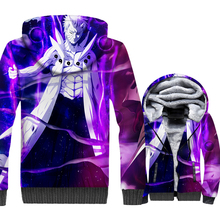 Naruto Uzumaki 3D Print Hoodie Men Japanese Anime Hooded Sweatshirt Winter Thick Fleece Warm Zip up Coat Harajuku Jacket