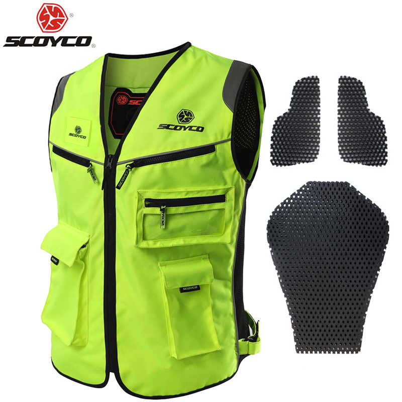 Scoyco JK30 Motorcycle Reflecting Racing Vest Visbility Moto Safety Road Security High Quality +Protection Gears Free Shipping