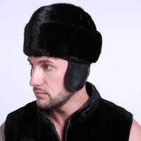Quinquagenarian Men S Hat Black Winter Perfect Ear Suit For 58 Cm 32 Cm Head Circumference