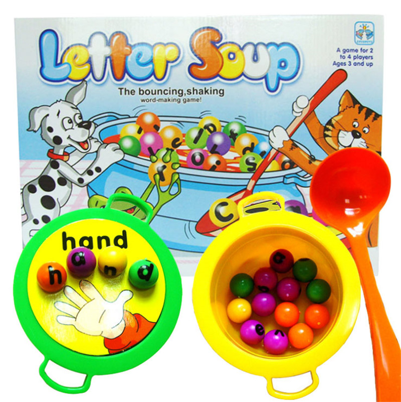 Plastic Letter Soup Matching Word Board Game Electronic Educational Toy For Kids Children Baby Toys Educational Developmental