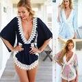 2017 Verão Mulheres Sexy Ladies Clubwear V Playsuit Pescoço Bodycon Partido Jumpsuit Romper Calças Pedaço Calções