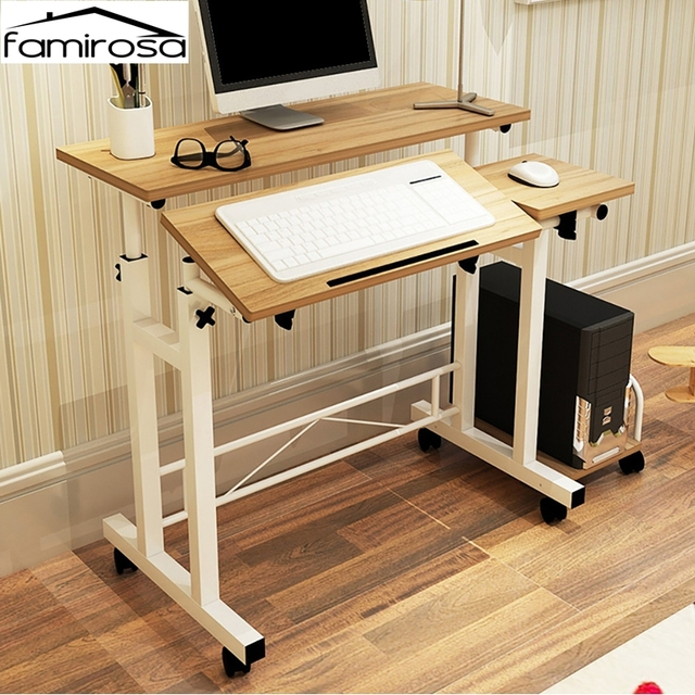 Famirosa Household Computer Desk With Keyboard Shelf Adjule Table Pc For Home Office Use