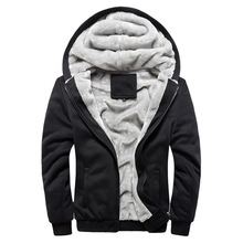 2019 Hoodies Sweateshirts Men Winter Warm Thick Plus Velvet Hoodies Jacket Parkas Casual Solid Streetwear Mens Cardigan M -5XL