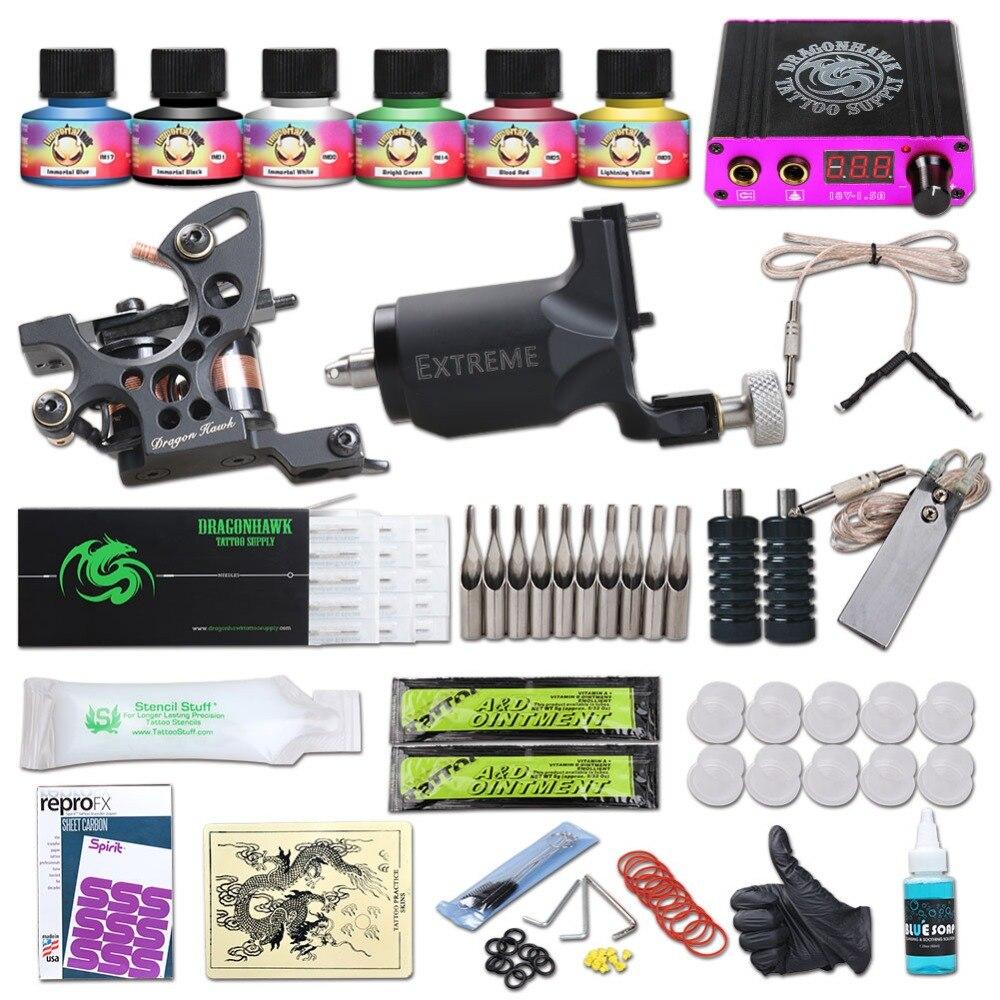 Dragonhawk tattoo kit rotary tattoo machine fine lining for Tattoo kit rotary