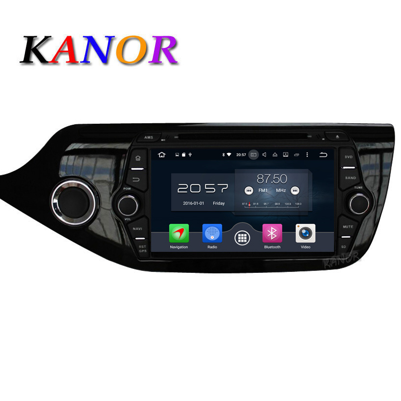 KANOR Octa Core Android 6.0 RAM 2G 32G ROM For Kia CEED 2013 2014 2015 Car DVD Player GPS Radio WIFI Bluetooth Map USB Audio