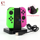 HOTHINK 4 in 1 Square Charger Charging Stand holder For Nintendo Switch Joy-con NS NX Joy con