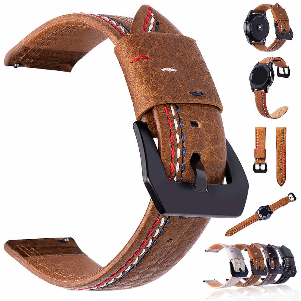 Three lines Print Fashion Premium Leather Watch Band Replacement For Samsung S3 Smart Watch Series Bracelet Accessories 10Aug 7