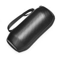 Durable Carbon Fibre Storage Bag Travel Carrying Case Sleeve Cover for JBL Flip 5 Wireless Bluetooth Speaker